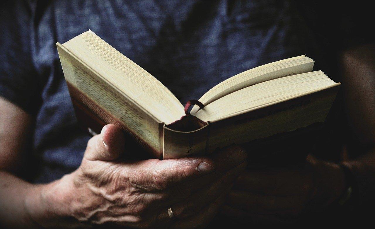 book, read, hands