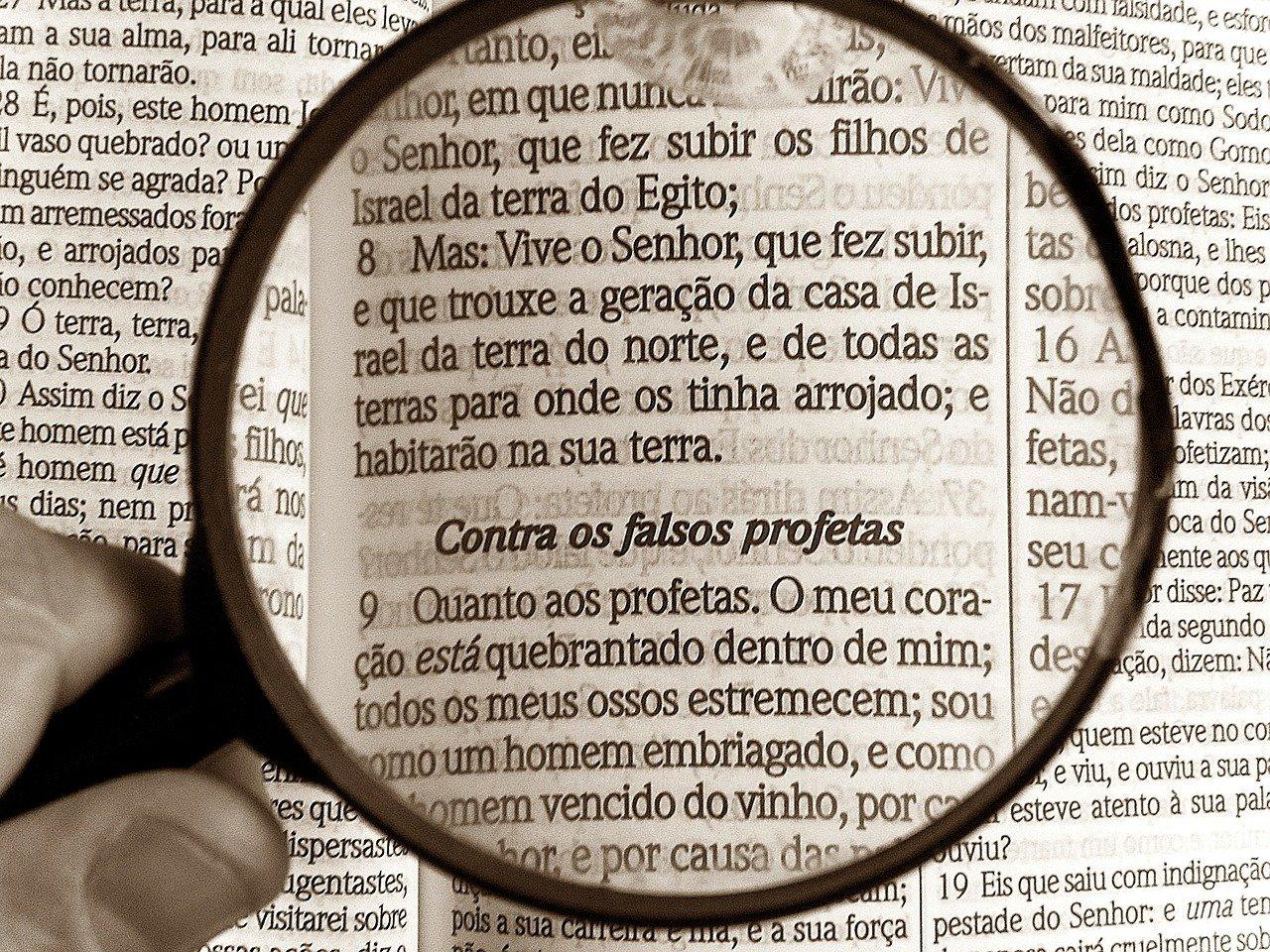 magnifying glass, bible, bibliology