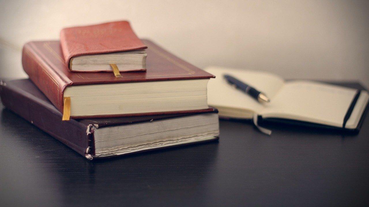 books, stack, read
